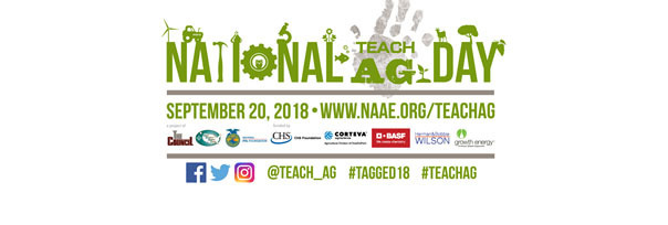 National Teach Ag Day is Thursday, September 20, 2018