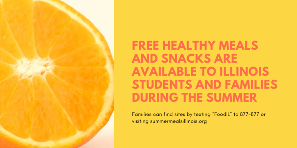 Free healthy meals and snacks are available to Illinois students and families during the summer
