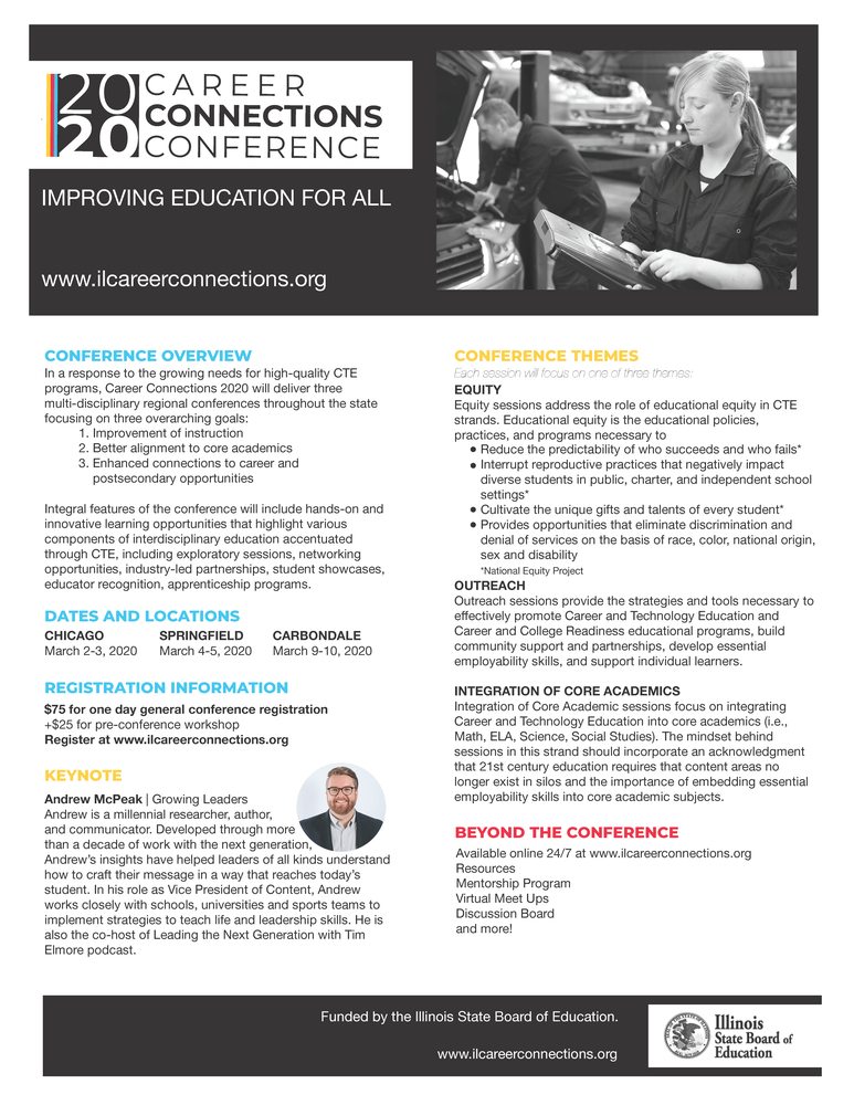 2020 Career Connections Conference – March 2-3, March 4-5, March 9-10