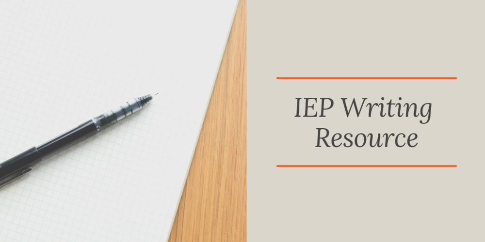 IEP Writing Resource