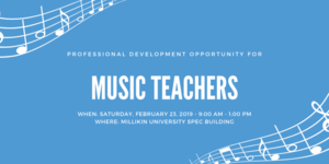Professional Development Opportunity for Music Teachers