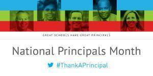 October is National Principals Month