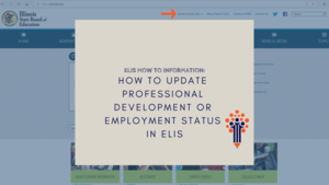 How to Update Professional Development or Employment Status in ELIS