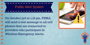 Reminder: Public Alert System Test Today