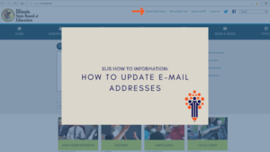 How to update ELIS and IWAS email addresses
