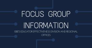 Focus Group Information