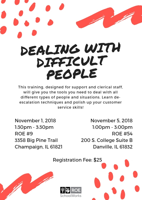 Dealing with Difficult People Flyer