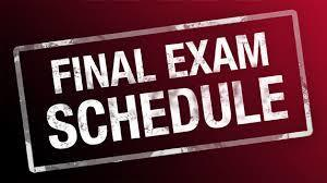 Final Exam Schedule - 2nd Semester - December 2018