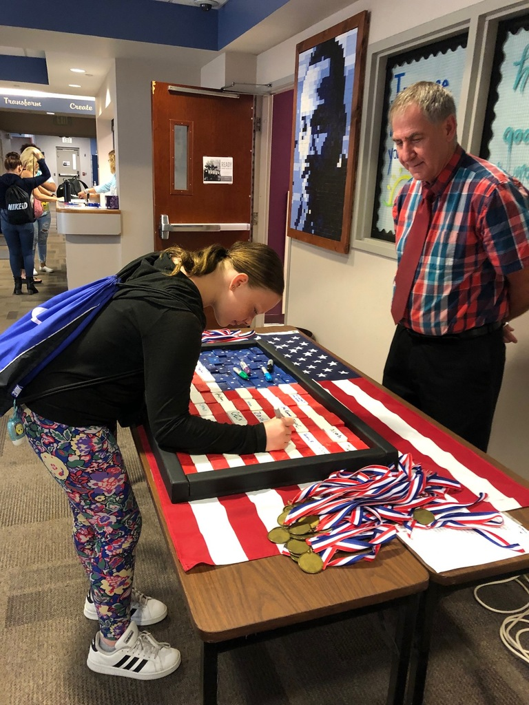 Signing the Flag