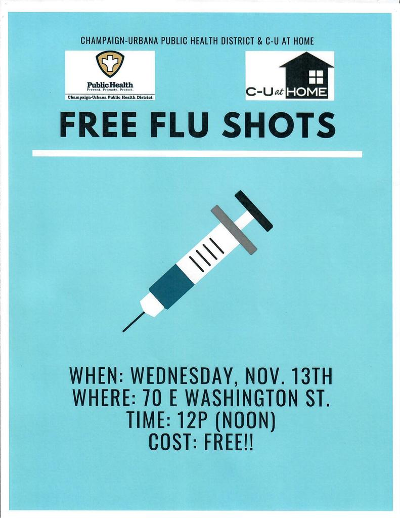 Free Flu Shots flyer